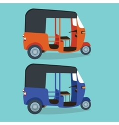Bajaj bajai indonesia transportaion drawing flat vector