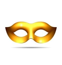 Gold carnival mask vector
