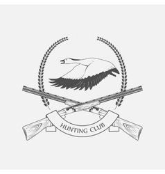 Geese hunting icon vector