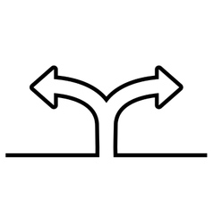 Arrow icon way and direction design vector