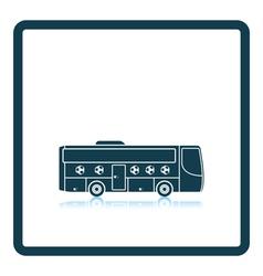 Football fan bus icon vector