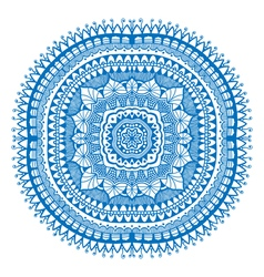 Blue detailed mandala vector