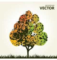 abstract colorful tree background vector image vector image