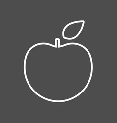 apple thin line icon flat icon isolated vector image vector image