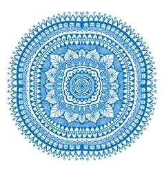 Blue detailed mandala vector