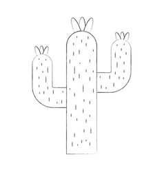 Cactus desert isolated icon vector