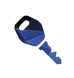 Car key icon abstract triangle vector