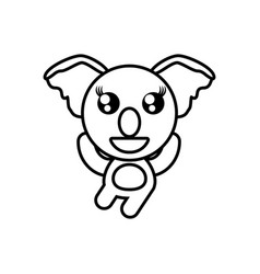 Cartoon koala animal outline vector