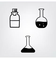 chemistry bottles vector image