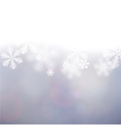Christmas background with defocused snowflakes vector image