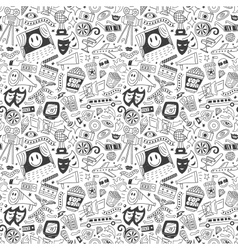 cinema seamless pattern vector image vector image