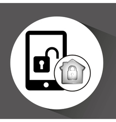 Computer data protection smartphone icon vector