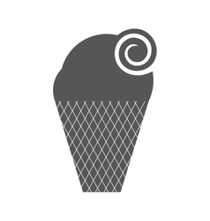 delicious sweet ice cream vector image