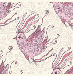 dreamer bird seamless repeat pattern vector image vector image