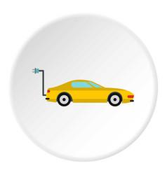 Electro car icon circle vector