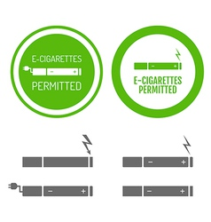 Electronic cigarettes permitted sign vector