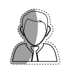 executive businessman profile vector image vector image