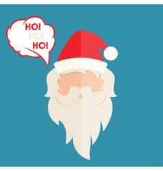Flat design of Santa Claus vector image vector image