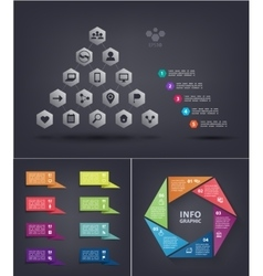 infographics set Pyramid infographic with vector image vector image