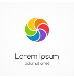 Logo template Abstract circle creative sign vector image