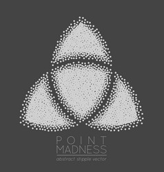 Of abstract dotted symbol triquetra vector