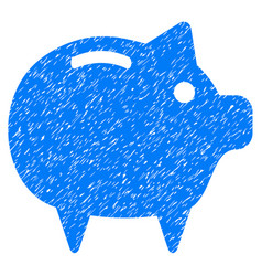 piggy bank icon grunge watermark vector image
