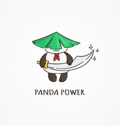 Power panda with a saber sword wildlife ecology vector