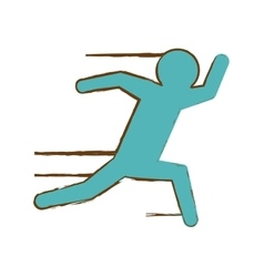 Running man pictogram icon image vector