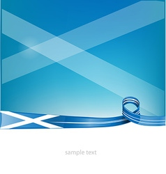 scotland ribbon flag on background vector image