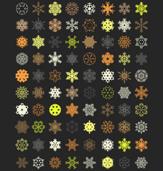 set of colorful snowflakes vector image vector image