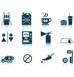 Set of Petrol station icons vector image