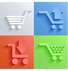 shopping icon set backgrounds vector image vector image