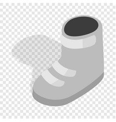 Snowboard boots isometric icon vector