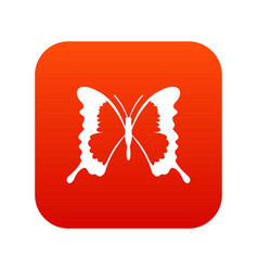 Swallowtail butterfly icon digital red vector