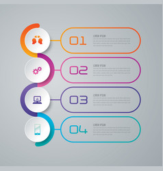 Timeline infographics design with 4 options vector