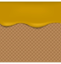 Wafer background with apple jam vector