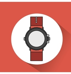 watch clock time wrist icon vector image