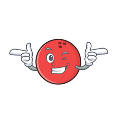 Wink bowling ball character cartoon vector