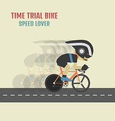 105time trial cyclist vector