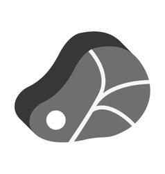 Meat steak icon vector