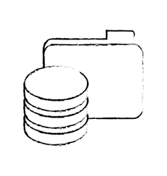 Data center related icon image vector