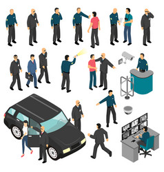 Security isometric set vector