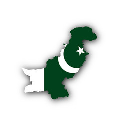 Map and flag of pakistan vector