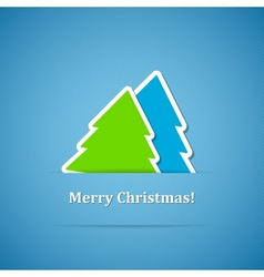 Christmas back vector image