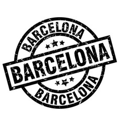 Barcelona black round grunge stamp vector