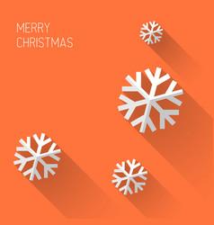 modern orange christmas card with flat design vector image