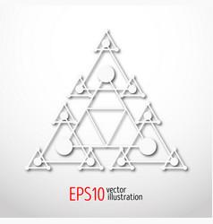 Magic white triangle with recursive 3d  sacral vector