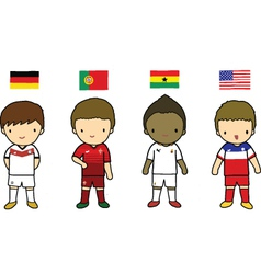 Fifa 2014 football players group g vector