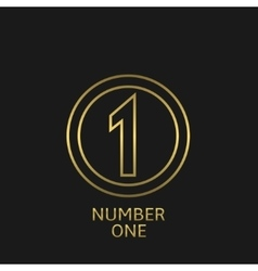 Number one icon vector