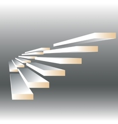 With stairs vector